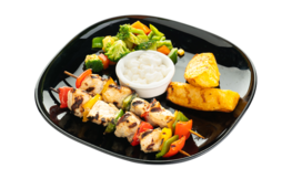 Healthy Tawook Plate